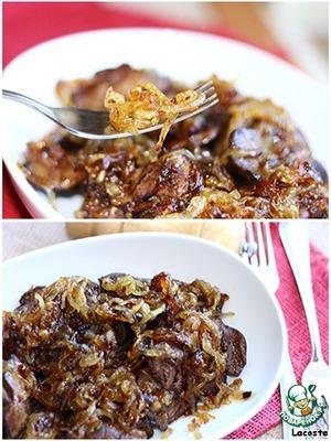 Рецепт Куриная печень с медовым луком
