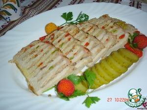 Рецепт Свинина, фаршированная мясом