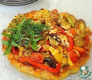 Рецепт Сырно-овощной тарт