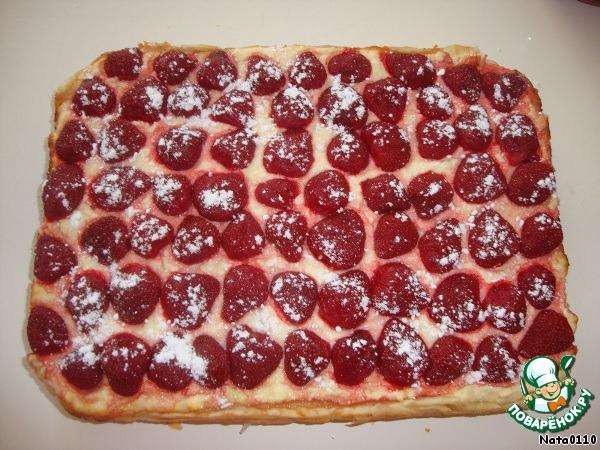 Пирог из клубники и творога рецепт с фото