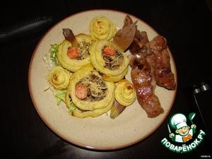 Рецепт Ватрушки картофельные с грибами