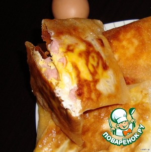 Рецепт Вкуснейший завтрак или яичница в тесте фило