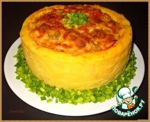 Рецепт Картофельная запеканка с семгой «Новое амплуА для любимого блюдА»