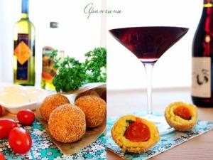 Рецепт Аранчини с тремя видами начинок