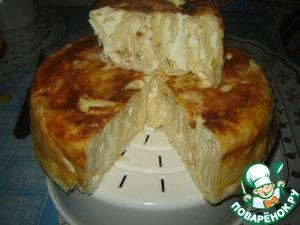 Рецепт Банница с творогом в мультиварке из лаваша