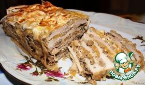 Рецепт Курица с грибами, запеченная в лаваше