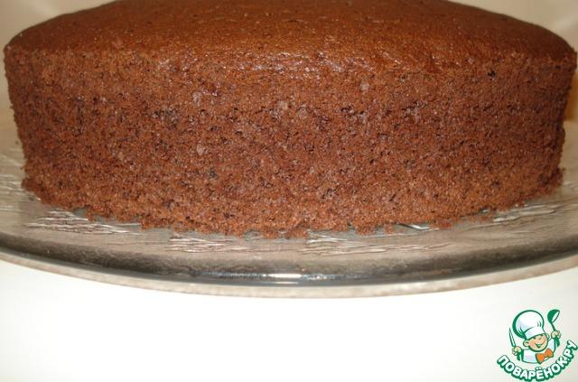 Как сделать шоколадный бисквит фото