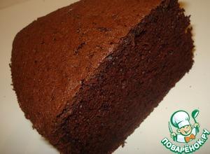 """Рецепт Шоколадный шифоновый бисквит и торт """"Гормон счастья"""""""