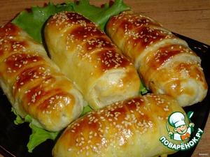 Рецепт Слоечки с ветчиной и сыром