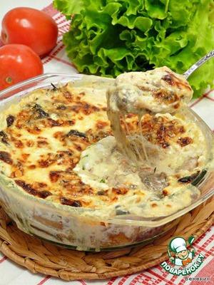 Грибная кассероль - грибная, сливочно-сырная запеканка простой пошаговый рецепт приготовления с фото