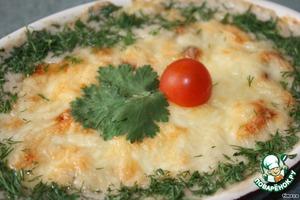 Рецепт Баклажаны, запеченные с грибами в сливочно-сырном соусе