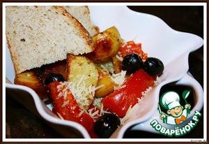 Рецепт Картофельный гарнир с маслинами