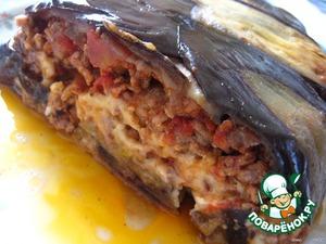 Рецепт Баклажанная   шарлотка   с   мясом