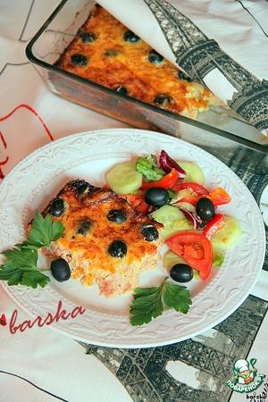 Рецепт Клафути из тунца и помидоров с маслинами