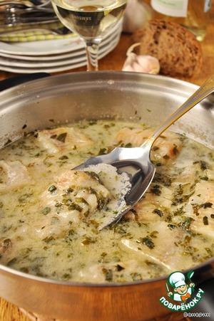 Рецепт Филе рыбы в зеленом соусе