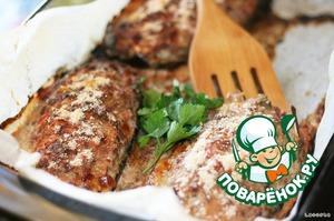 Рецепт Баклажаны с мясом, помидорами и сыром сулугуни