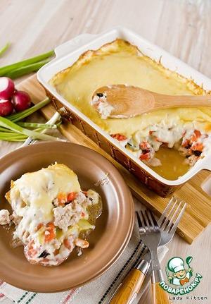Рецепт Гратен с фаршем и овощами