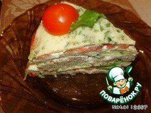 Рецепт Закусочный торт «Многослойный»