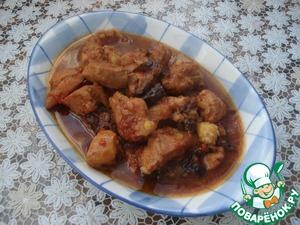 Рецепт Мясо с томатным соком и черносливом