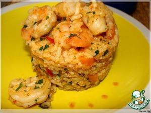 Рецепт Рис пряный с креветками