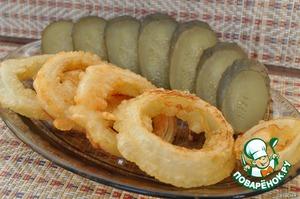 Рецепт Луковые кольца в кляре