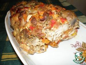Рецепт Куриная запеканка с грибами и овощами