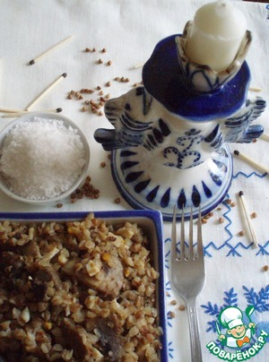 Рецепт Гречка с грибами, яйцами и луком по рецепту программы «Смак»