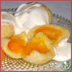 Рецепт Кнедлики  творожные  с абрикосами