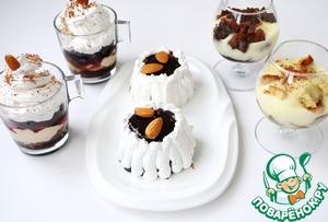 Рецепт Пирожное в стакане, мини Гато и трайфл с английским заварным кремом. Часть 2