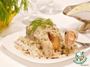 Рецепт Форель в горчично-сливочном соусе