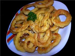 Рецепт Кольца кальмаров в кляре
