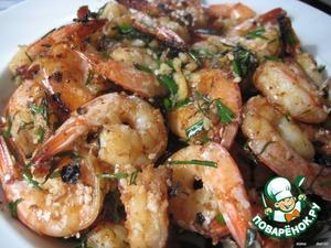 Рецепт Ароматные   креветки   на   китайский   манер