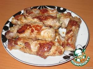 Рецепт «Пальчики» из свинины по-быстрому