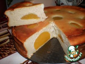 Рецепт Творожная запеканка с персиком