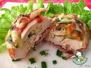 Рецепт Куриные кармашки с беконом и сыром