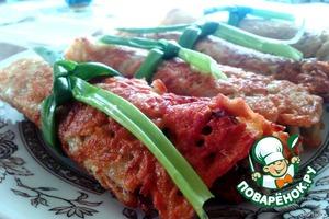 Рецепт Драники-рулеты с грибной начинкой