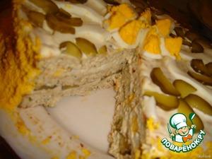 Рецепт Закусочный тортик из курицы с сыром