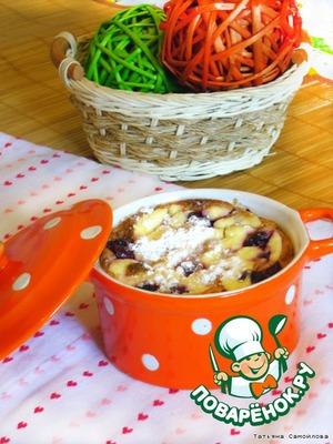 Рецепт Вишневая запеканка с манкой и корицей