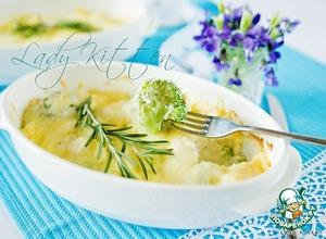 Рецепт Гратен из брокколи и цветной капусты