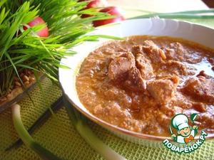 Рецепт Мегрельское харчо с грецкими орехами