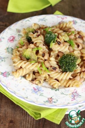 Рецепт Паста с фасолью и брокколи