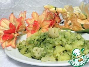 Рецепт Отварной картофель с брокколи и цветной капустой