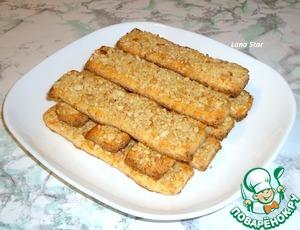 Рецепт Творожные палочки с орешками