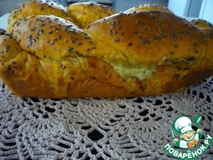"""Рецепт Томатный хлеб """"Вертунчик"""" с сыром, чесноком и сушеной зеленью"""