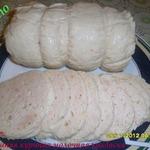 Домашняя куриная молочная колбаса