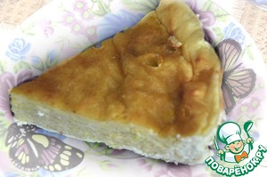 Рецепт Сырно творожный пирог (почти без муки)