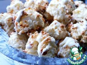 Рецепт Кокосовое печенье с белым шоколадом за 10 минут
