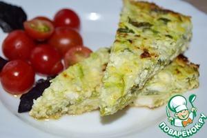 Рецепт Омлет с кабачками и творогом (Tortilla)