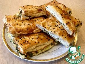 Рецепт Слойки с адыгейским сыром и зеленью