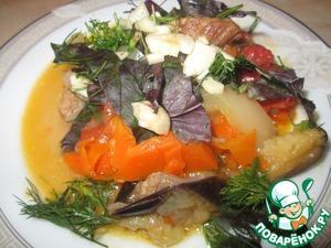 Рецепт Соте из баклажанов с мясом